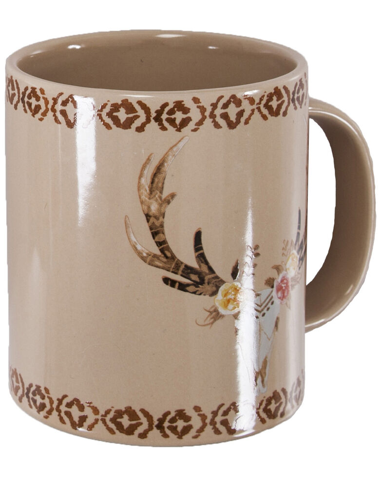 HiEnd Accents Skull And Floral Mug Set, Tan, hi-res