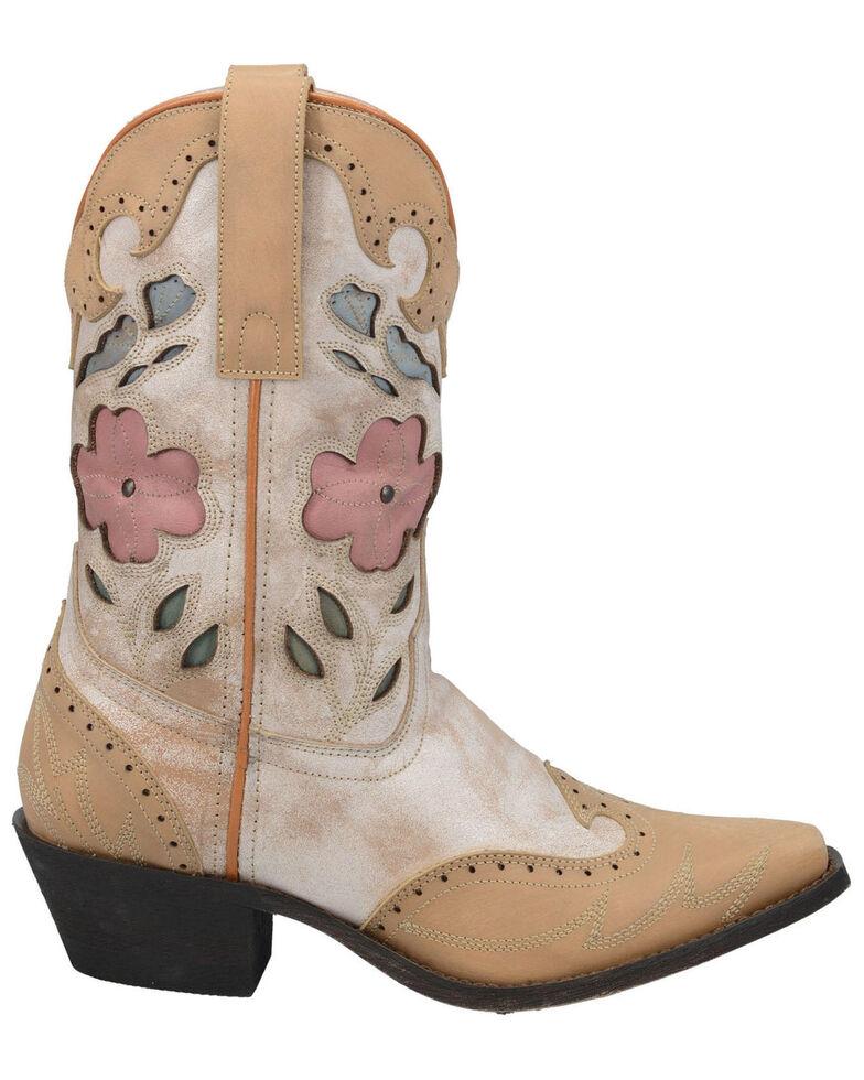 Laredo Women's Bold & Beautiful Western Boots - Snip Toe, Off White, hi-res