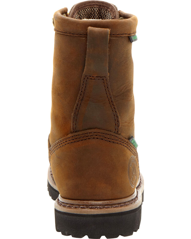 Georgia Boys' Insulated Outdoor Waterproof Lace-Up Boots, Tan, hi-res