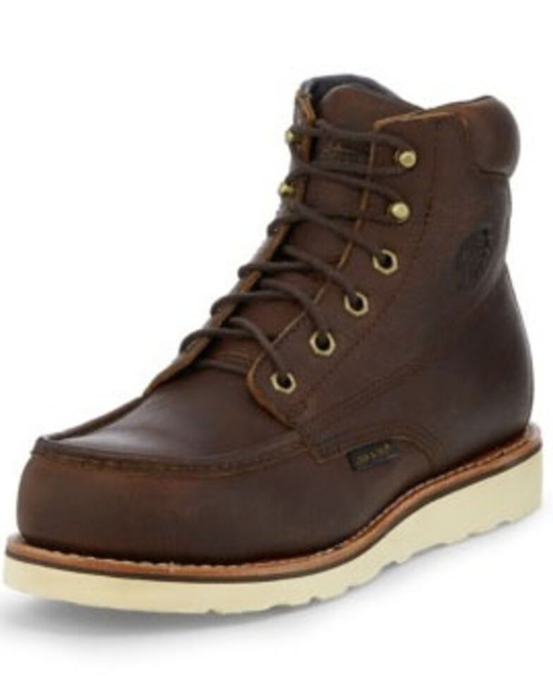 "Chippewa Men's 6"" Edge Walker Waterproof Work Boots - Composite Toe, Brown, hi-res"