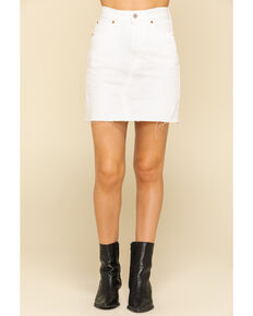 Levi's Women's White Decon Iconic Skirt, White, hi-res
