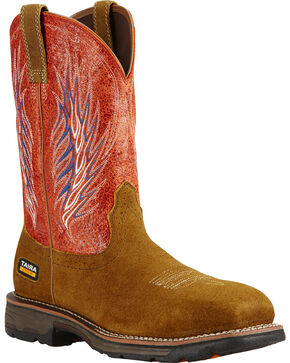 Ariat Fire Workhog Mesteno II Western Work Boots, Brown, hi-res