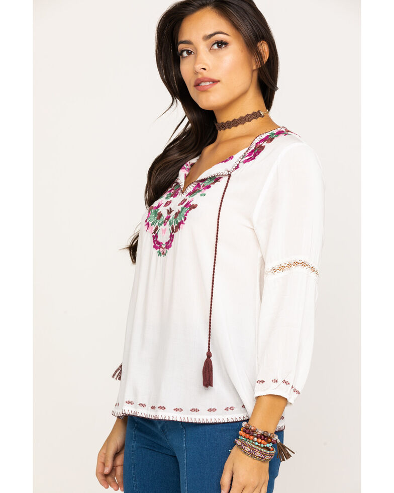 Tasha Polizzi Women's Travelers Top, Ivory, hi-res