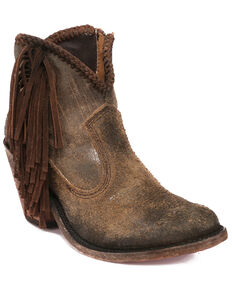 Liberty Black Women's Napa Cobre Fashion Booties - Round Toe, Brown, hi-res