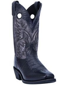 Laredo Men's Patton Western Boots - Narrow Square Toe, Black, hi-res
