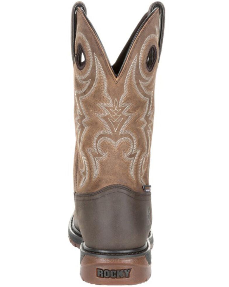 Rocky Men's Original Ride FLX Waterproof Western Work Boots - Soft Toe, Tan, hi-res