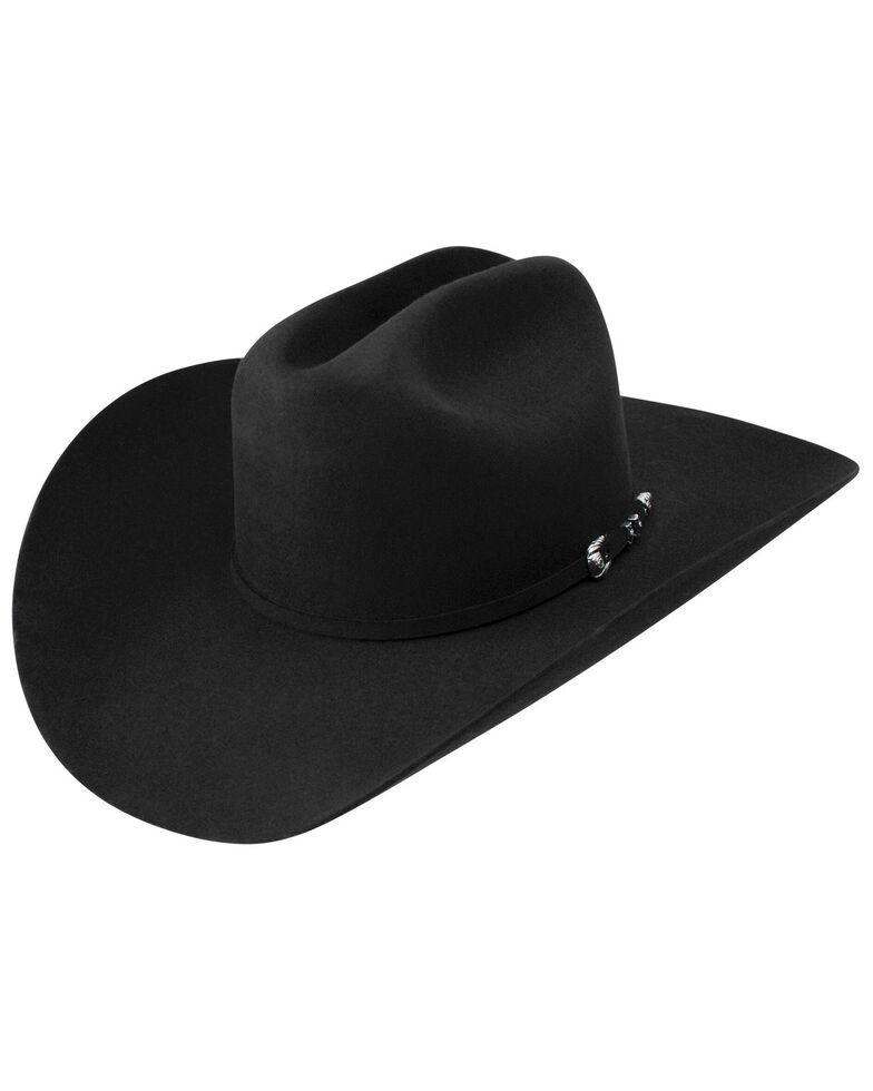 Resistol Men's Ox Box Fur Felt Western Hat, Black, hi-res