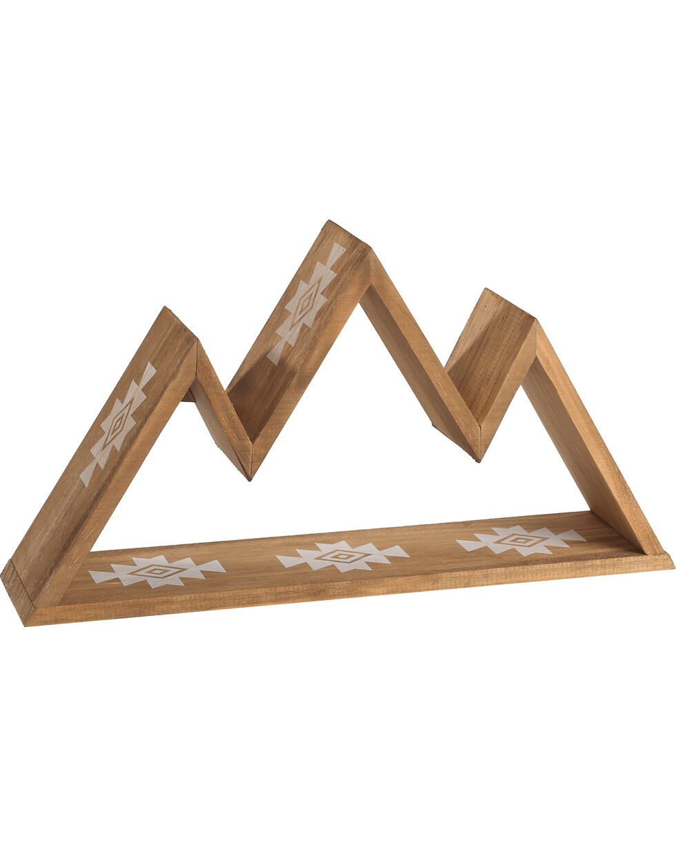 BB Ranch Wooden Wall Shelf, Brown, hi-res