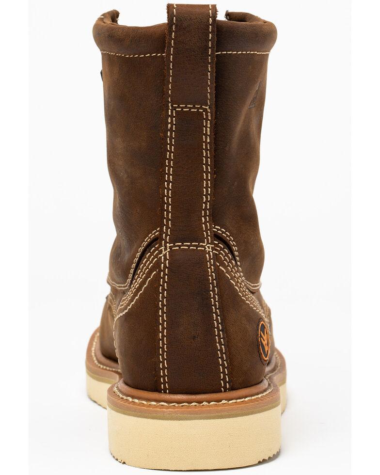 "Hawx® Men's 8"" Lacer Work Boots - Soft Toe, Brown, hi-res"