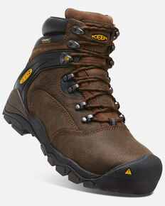 Keen Men's Louisville Waterproof Work Boots - Steel Toe, Brown, hi-res