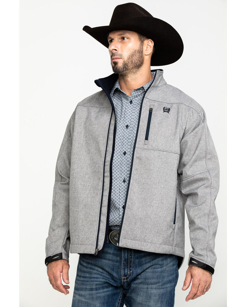 Cinch Men's Light Gray Bonded Jacket , Grey, hi-res