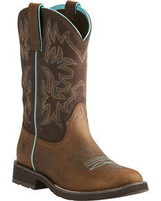 Ariat Women's Delilah Western Boots, Brown, hi-res