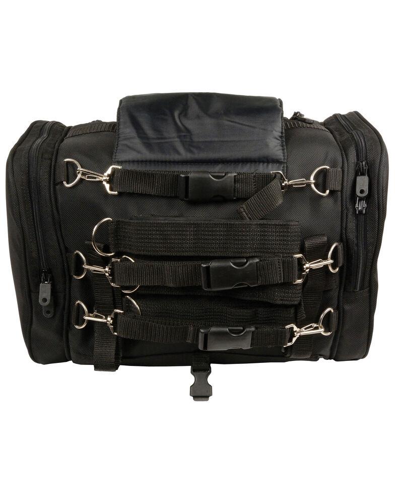 Milwaukee Leather Medium Motorcycle Sissy Bar Trunk Bag, Black, hi-res