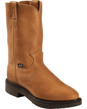 Justin Men's Boots Pull-On Boots, Copper, hi-res