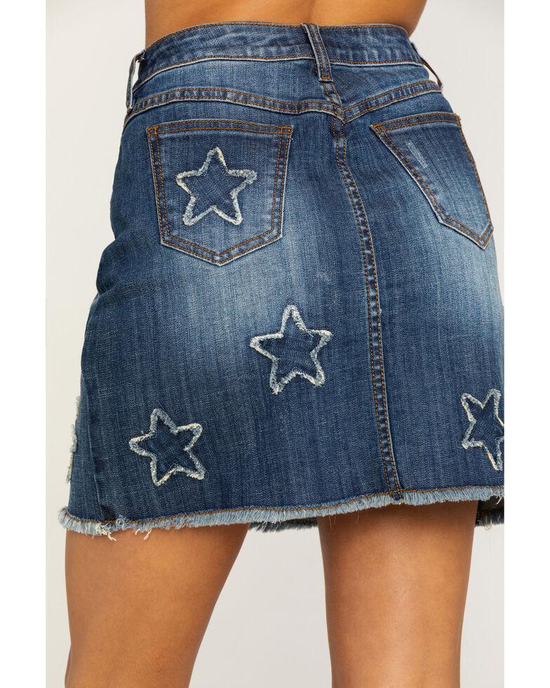 Stetson Women's Star Denim Skirt, Blue, hi-res