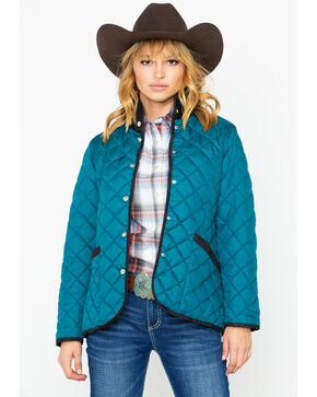 Outback Trading Women's Barn Snap Front Jacket , Teal, hi-res