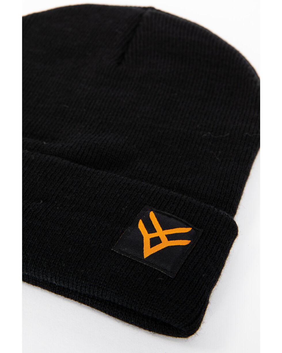 Hawx® Men's Side Logo Beanie, Black, hi-res