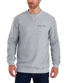 Carhartt Men's Midweight Graphic Crew Work Sweatshirt, Heather Grey, hi-res