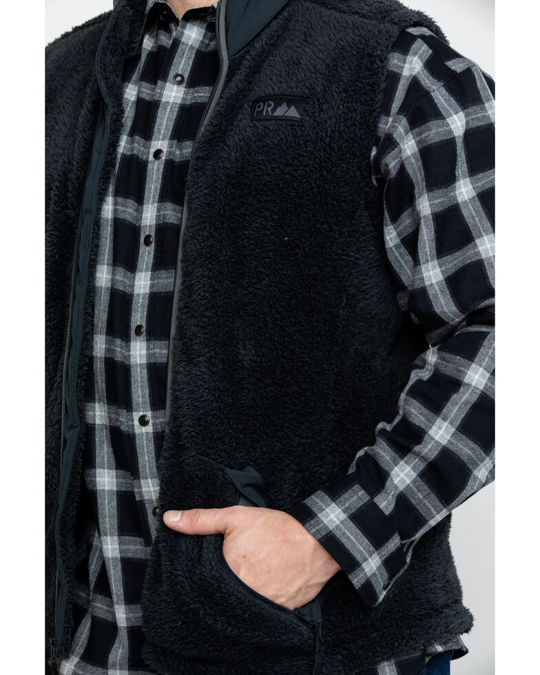 Powder River Outfitters Men's Micro Berber Full Zip Vest , Black, hi-res