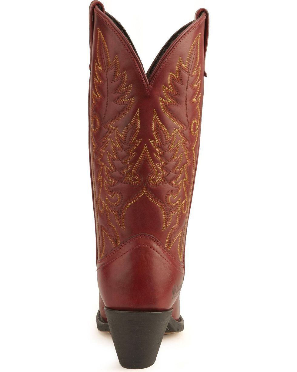 Laredo Women's Snip Toe Madison Western Boots, Red, hi-res