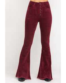 Show Me Your Mumu Women's Cranberry Cam Cam Corduroy Bell Jeans, Red, hi-res