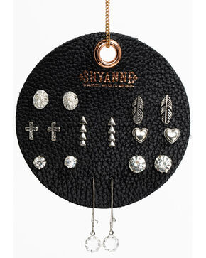 Shyanne Women's Arrow Earring 8 Pack Patch Set, Silver, hi-res
