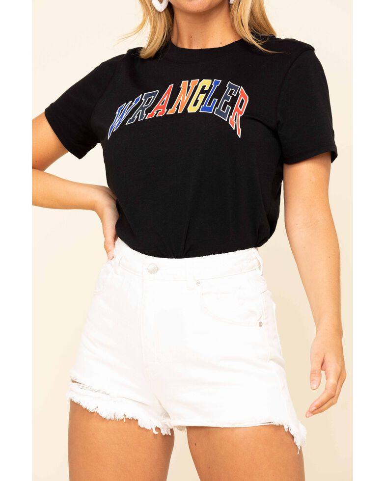 Wrangler Modern Women's Black Colorful Logo Tee, Black, hi-res