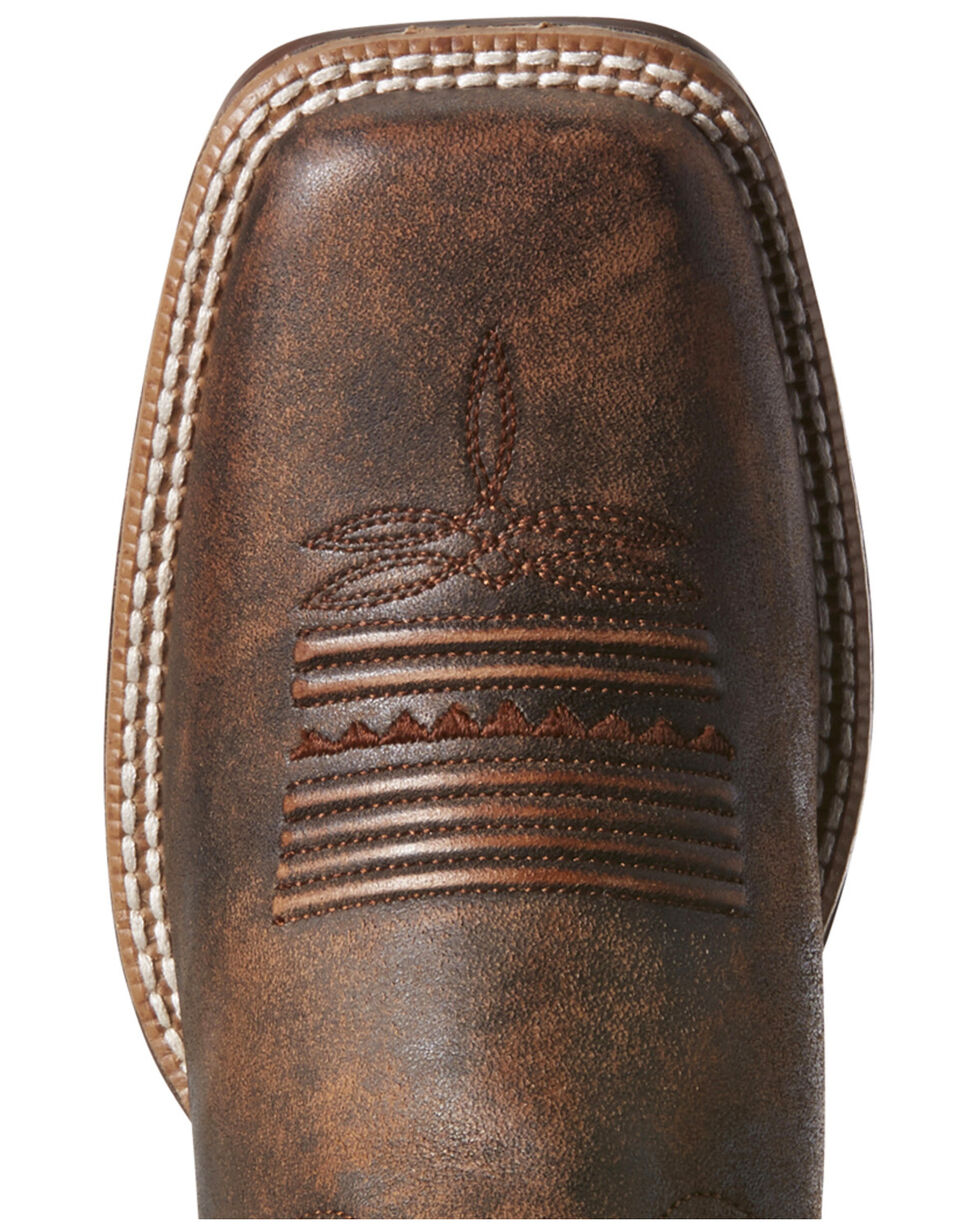 Ariat Women's Primetime Tack Western Boots - Wide Square Toe, Chocolate, hi-res
