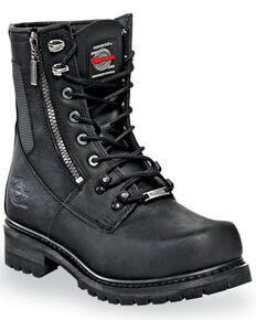 Milwaukee Motorcycle Clothing Co. Men's Trooper Moto Boots - Round Toe, Black, hi-res