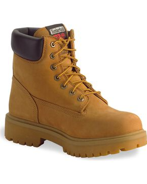 "Timberland Pro Men's 6"" Steel Toe Work Boots, Wheat, hi-res"