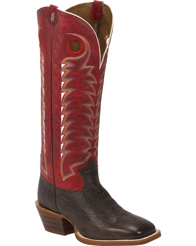 Tony Lama Men's Bonham 3R Buckaroo Western Boots, Dark Brown, hi-res