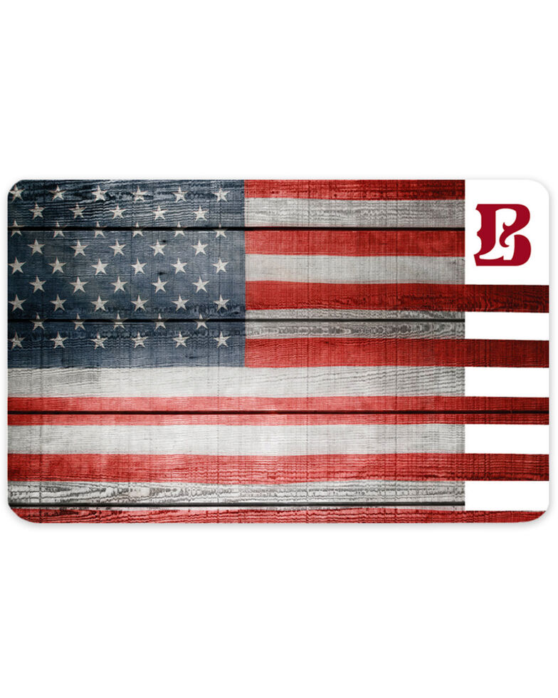 Boot Barn® American Flag Gift Card, No Color, hi-res