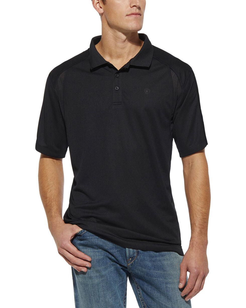 Ariat Men's AC Tek Polo Shirt, Black, hi-res