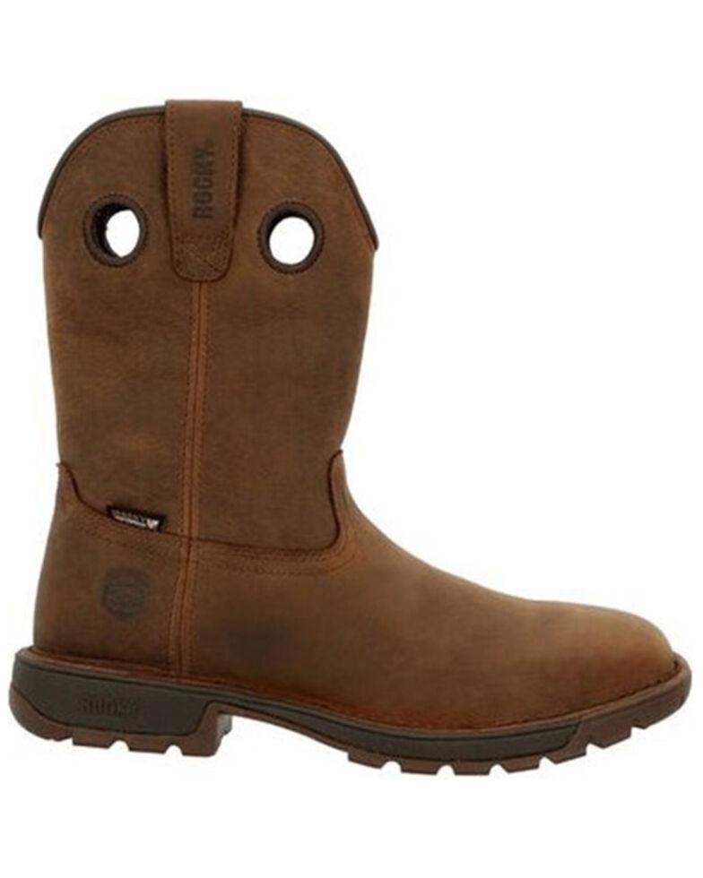 Rocky Men's Dark Brown Legacy 32 Waterproof Steel Toe Work Boot - Square Toe , Brown, hi-res