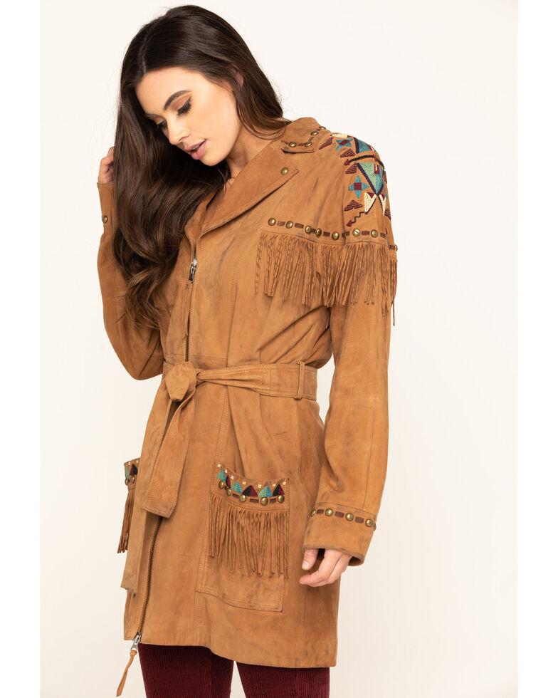 Double D Ranch Women's Tumbleweed Guarache Jacket, Tan, hi-res
