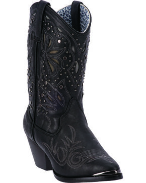 "Dingo Women's 10"" Studded Fashion Boots, Black, hi-res"