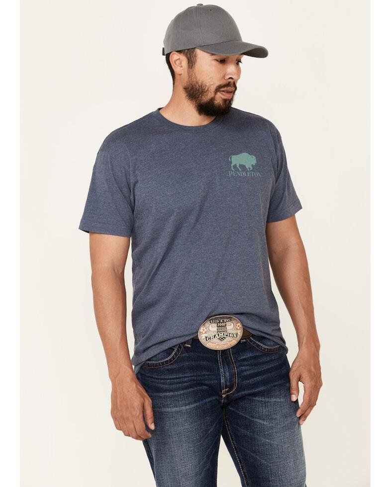 Pendleton Men's Papago Park Bison Graphic Short Sleeve T-Shirt, Blue, hi-res