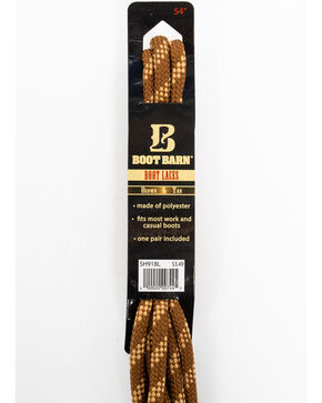 "BB Ranch 54"" Brown & Tan Boot Laces, Brown, hi-res"