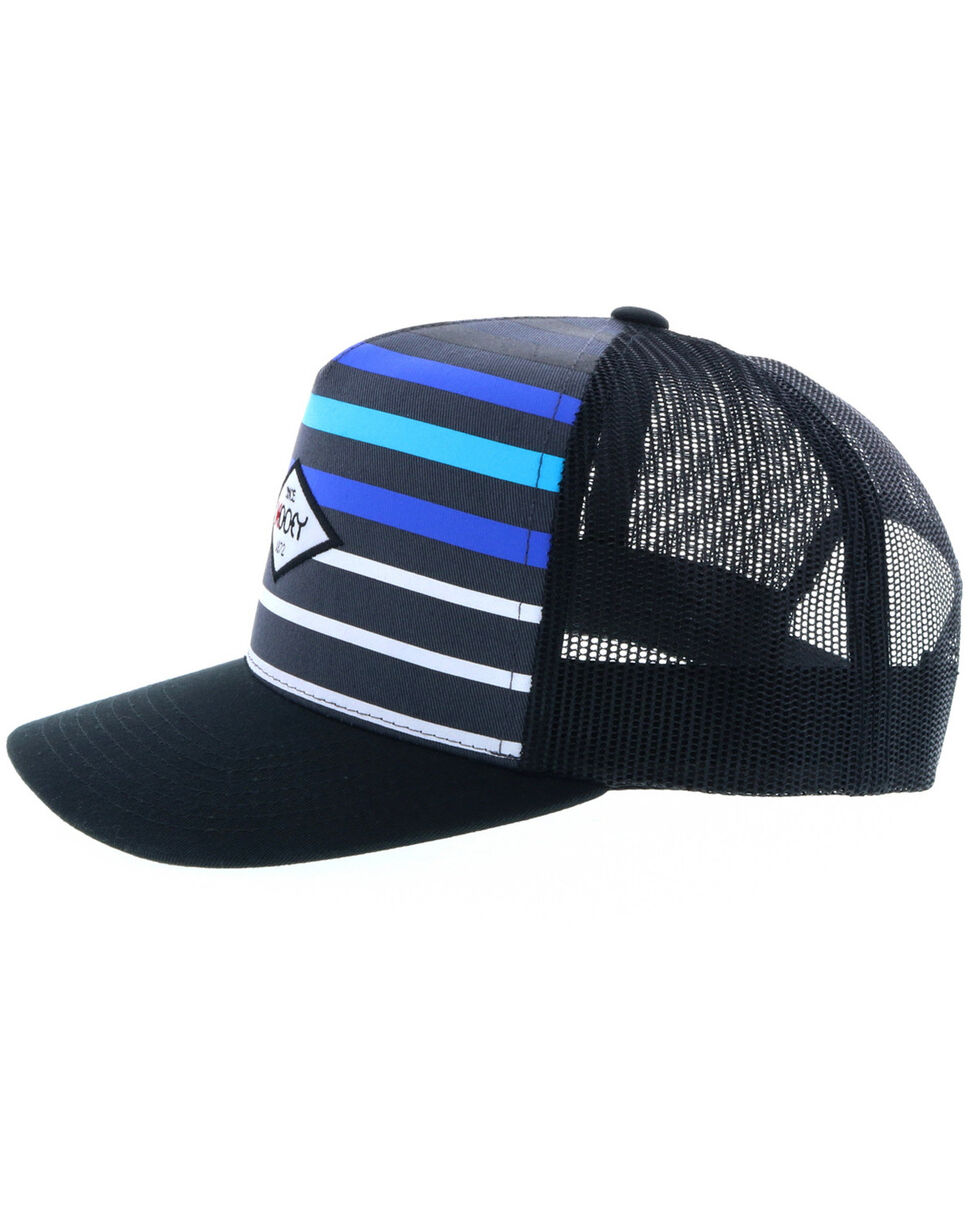 HOOey Men's Method Striped Trucker Cap, , hi-res