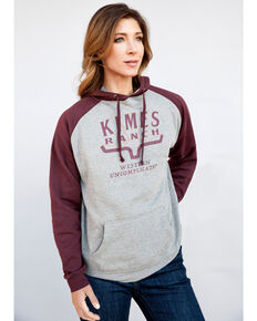 Kimes Ranch Unisex Double Time Fleece Hoodie, Burgundy, hi-res