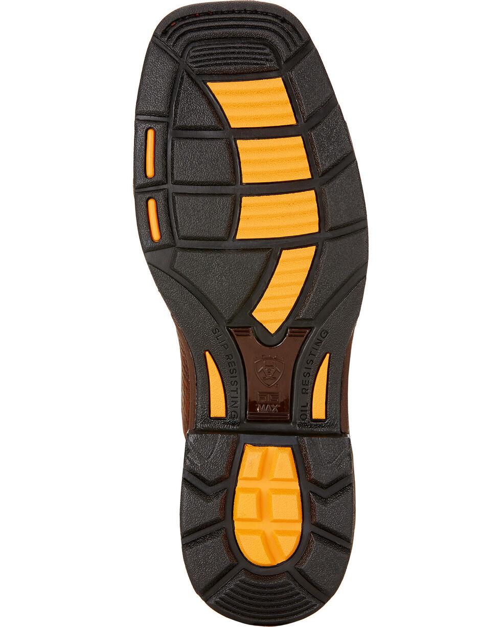 Ariat Workhog Croc Print Wide Square Toe Work Boots, Brown, hi-res