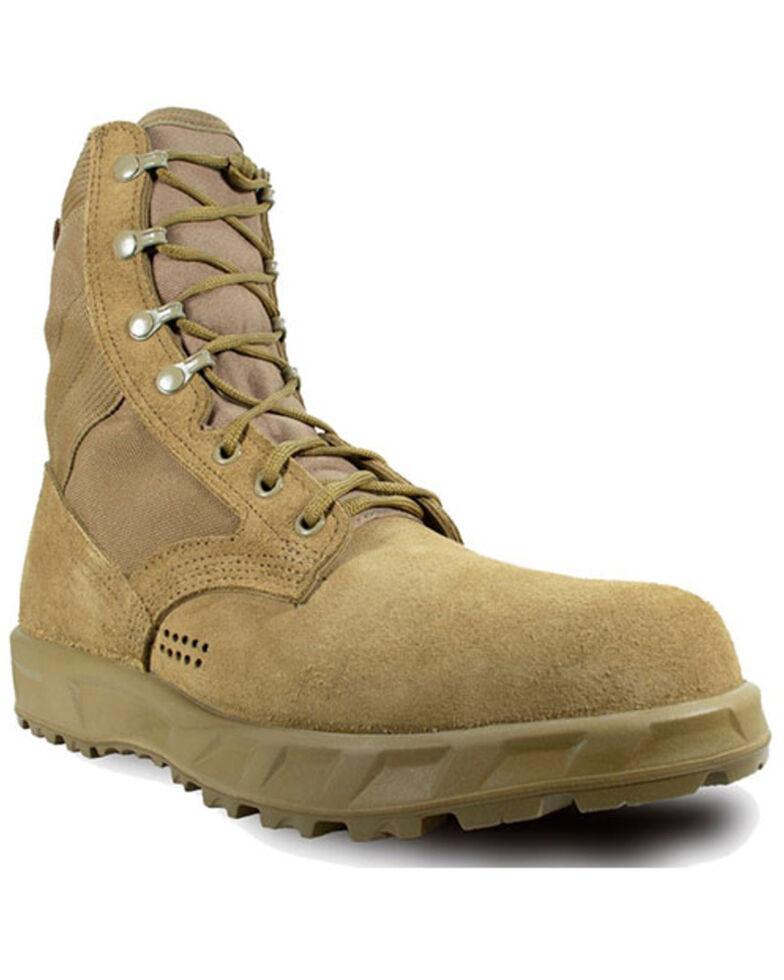 McRae Men's T2 Ultra Light Hot Weather Combat Boots - Soft Toe, Coyote, hi-res