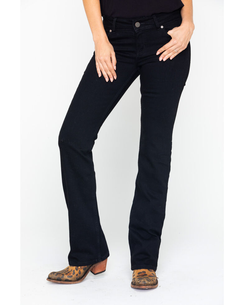Wrangler Women's Mae Mid-Rise Bootcut Jeans, Black, hi-res