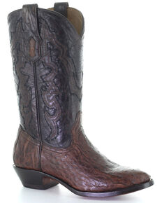 Corral Men's Ostrich Embroidery Western Boots - Round Toe, Brown, hi-res