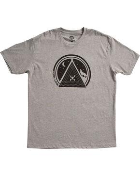 HOOey Men's Grey Chord Short Sleeve Tee , Grey, hi-res