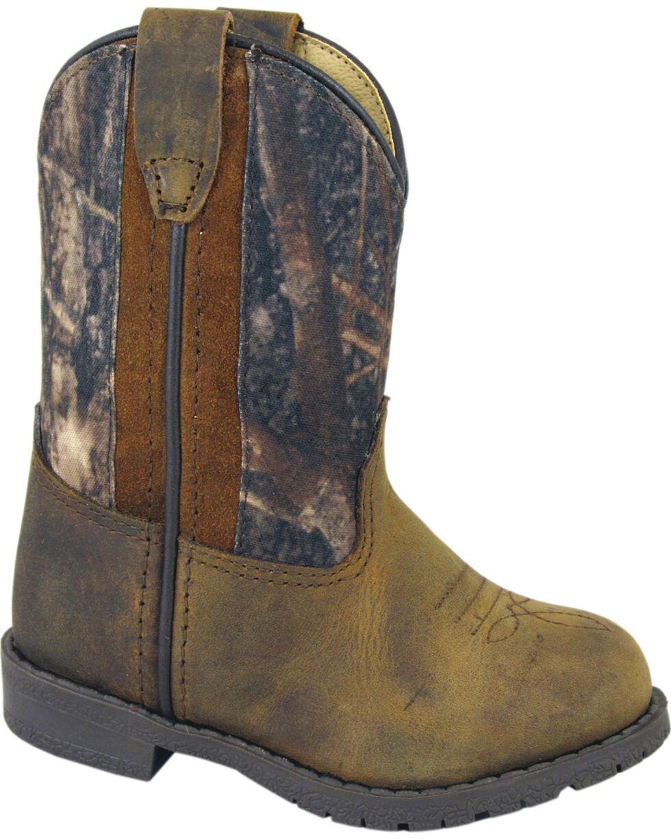 Smoky Mountain Toddler Boys' Hopalong Camo Western Boots - Round Toe, Brown, hi-res