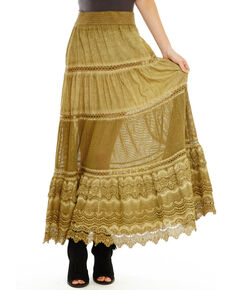 Aratta Women's Begin Again Skirt, Olive, hi-res