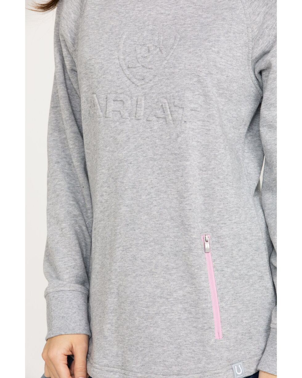 Ariat Women's Heather Grey 3D Logo Hoodie, Heather Grey, hi-res