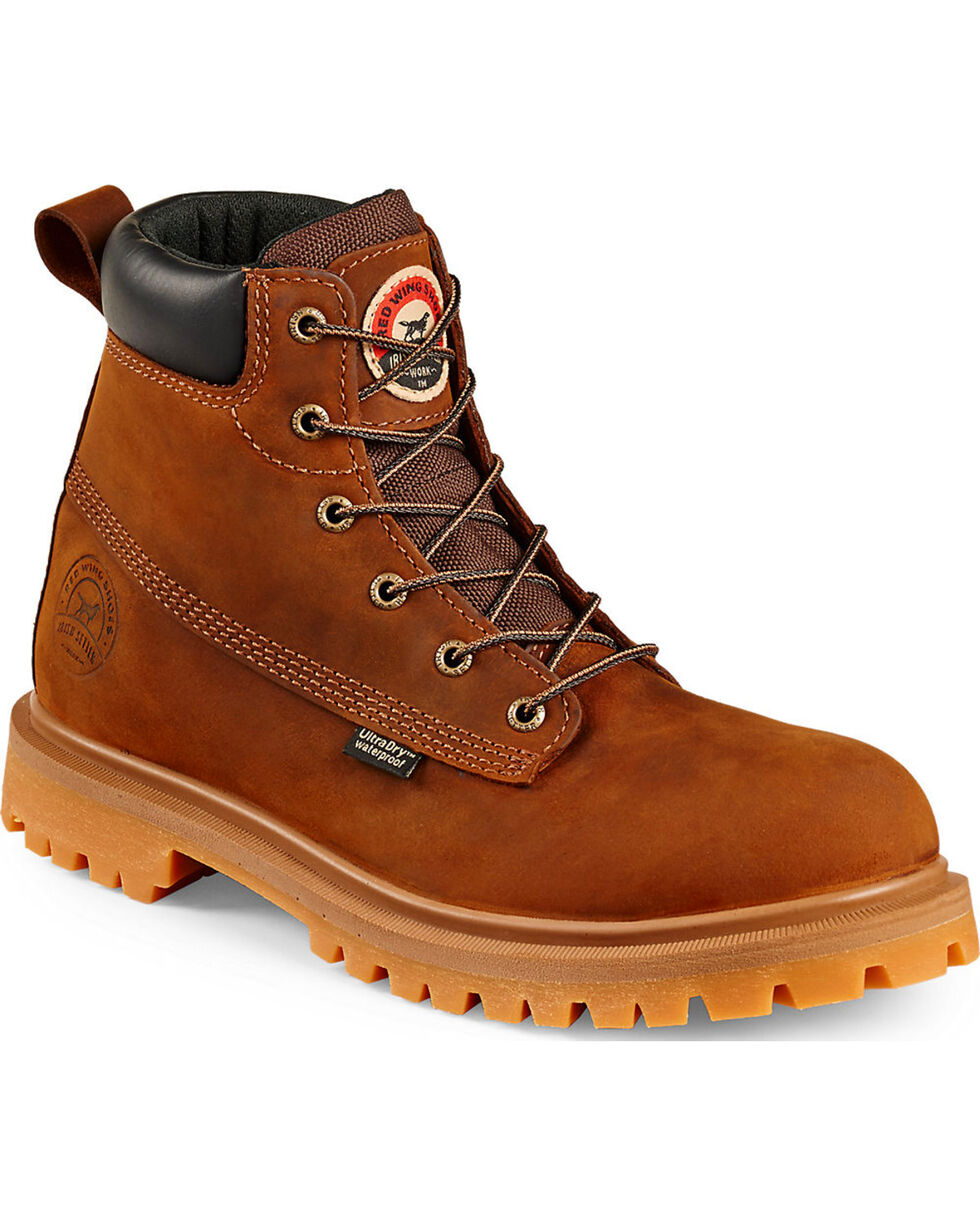 """Irish Setter by Red Wing Shoes Men's Hopkins 6"""" EH Waterproof Work Boots - Aluminum Toe, Brown, hi-res"""