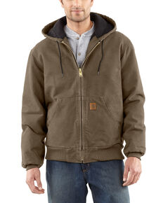 Carhartt Men's Sandstone Flannel Lined Active Jacket - Big & Tall, Light Brown, hi-res